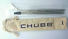 NEW ebay open 2019 Chubb 2 stainless steel drinking straws with cleaning brush