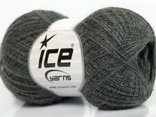 5,00€/100g LACE WOLLE zum Stricken Dunkelgrau 30%Baby Alpaka 70%Superwash Merino