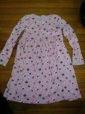 Gymboree Vintage Girls Cupcake & Sprinkles Pink Long Sleeve Playdress Size 10