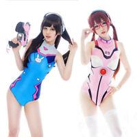 Overwatch Dva Mercy Womens Swimwear Swimsuit One Piece Bikini Cosplay Costume