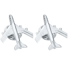 Pin Brooch Jet Flight Pin Badge 2pcs Silver Brass Airplane Aircraft Plane
