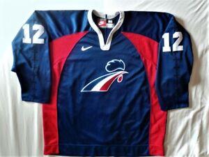Nike Authentic France French Hockey jersey Philippe Bozon sz 56 RARE 90s Vintage