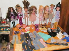 Lot of Bratz Dolls & Boyz with Clothes & Shoes & Case