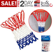 Basketball Net NBA Logo Style Heavy Duty Red White Blue All-Weather Outdoor