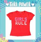 Baby Girls Size 0 ~ 8 - Top/ T-shirt Girls Rule Print - Red