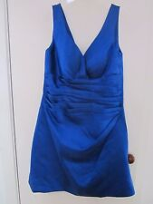 J J 'S HOUSE, BEAUTIFUL BLUE SATIN SPECIAL OCCASION DRESS SIZE  8-10