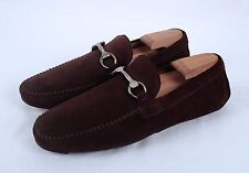 NEW!! Magnanni Horse Bit Driving Loafer- Brown Suede- Size 8 US/ 41 EU $350 (M7)