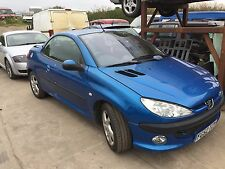 Peugeot 206 cc Breaking for parts doors wings bumpers headlights mirrors in blue