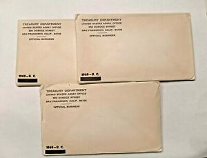 Sealed Unopened 1969 US MINT UNCIRCULATED SETS (3 SETS PER LOT)