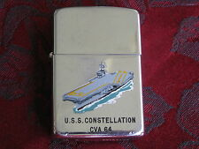 Vintage Zippo Town & Country Lighter 1963 USS Constellation CVA-64 Military Ship
