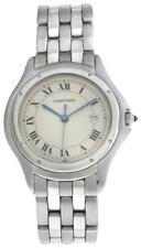 33 мм-Cartier унисекс Panthere Пантера 987904 кварц сталь дата часы