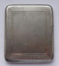 SILVER SIGARETTE CASE BIRMINGHAM 1928 146.6 G/4.71 TR OZ - 8 CM x 9.5 cm