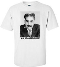 """""""Groucho Marx Wwd?"""" Marx Brothers Comedy Movie White T-Shirt"""