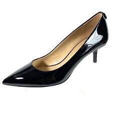 Michael Kors Pumps Black Patent Leather Kitten Heel 7M New