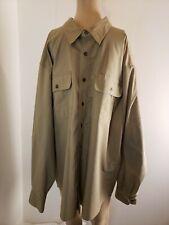 Cabela's Men's Button Front Shirt Size XL Tall Brown Long Sleeve Outdoor Gear