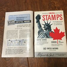 STAMPS OF THE UNITED STATES CANADA & Provinces-Harris 1974 Ed 1956 edition