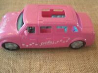 Polly Pocket Pink Glitter Limousine Limo Car Vehicle