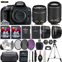Nikon D5300 Digital SLR Camera + 18-55mm VR + 55-200mm VR II + 64GB - 4 Lens Kit