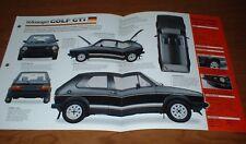 ★★1982 VW GOLF GTI ORIGINAL IMP BROCHURE 82 81 80 79 78 75 VOLKSWAGEN SPECS INFO