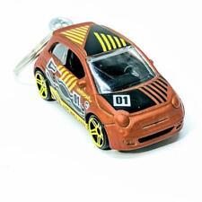 Hot Wheels 50th Anniversary HW Daredevils Burnt Orange Fiat 500 Diecast Keyring