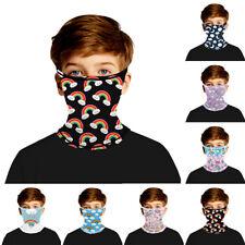 Kid Boy Girl Multi-Use Balaclava Neck Tube Scarf Biker Face Mask Bandana Outdoor