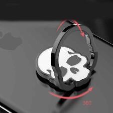 Universal Skull Metal Finger Grip Ring Mens Mobile Phone Holder Stand Skeleton