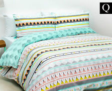 QUEEN BED BAMBURY MARQUISE 180TC COTTON BLEND QUILT DOONA COVER + PILLOWCASE SET