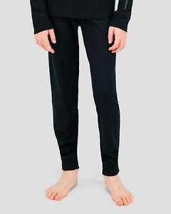Terramar Kids Black Heritage Base Layer Pant Size Large Climasense NWT