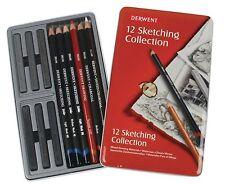 Derwent Sketching Collection 12 Set of Artist Pencils, Charcoal, Graphite
