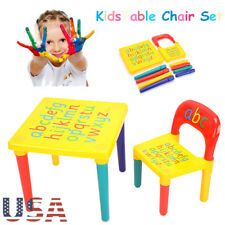 Activity Kids Table And Chair Set Furniture Toddler Child Toy Play Home Gifts US