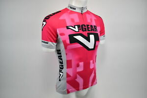 Small Women's Verge V Gear Race Cut Short Sleeve Cycling Jersey Pnk/Gry CLOSEOUT