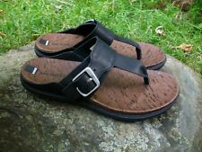 New Women's Merrell Around Town Post Leather Athletic Sandals Black 5M EU36