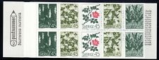 SLANIA ENGRAVED 1968 SWEDEN BOOKLET WILD FLOWERS MNH