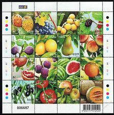 Malta 2007 Fruits Sheet  SG1519 - 1534 Complete Set of 16 Unmounted Mint