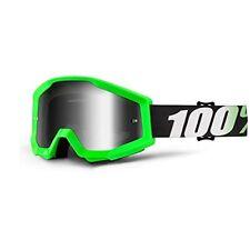 Occhiali da moto con montatura in verde adulti con lenti in argento