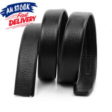 Men's without Automatic AU Replacement Leather Waist Belt Buckle Strap Waistband