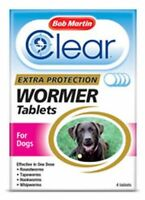 BOB MARTIN CLEAR 3-IN-1 WORMER TABLETS FOR DOGS - 4 PACK - BCL0385