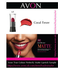 x1 Avon NEW Perfectly Matte Lipstick Sample in Coral Fever BRAND NEW & SEALED