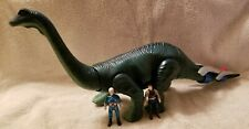 Vintage Dino Riders diplodocus Tyco 1987 with two riders action figures