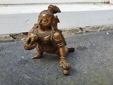 ANTIQUE ASIAN INDIAN BRONZE HINDU DEITY BALA KRISHNA SCULPTURE FIGURE FIGURINE