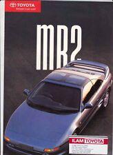 1992 TOYOTA MR2 New Zealand 4p Brochure Folder W20
