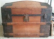 Barrel Top Antique Trunk Original Condition