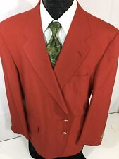David Taylor Men's TRUE Solid RED Sport Coat CHRISTMAS Jacket Light Blazer 46 R