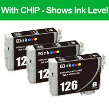 3PKs Remanufactured 126 Black Ink Cartridge For Epson WF 3520 3530 3540 NX330