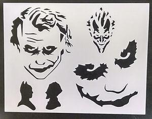 "Joker Batman Multiple 11"" x 8.5"" Custom Stencil FAST FREE SHIPPING"