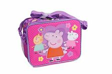"Disney Peppa Pig Kids School Lunch Box Licensed NEW Size 9""3/4x8""x3""7/8 Pink"