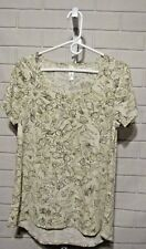 Women's LuLaRoe Top Pullover Short Sleeve Deer Bambi & Thumper Rabbit Size Small