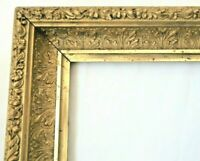 ANTIQUE FITS 20 X 20 GOLD PICTURE FRAME WOOD GESSO ORNATE FINE ART COUNTRY