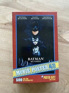 Batman Returns Movie Poster 500 PCS Jigsaw Puzzle 2x3 Feet MB 1992 VTG SEALED!