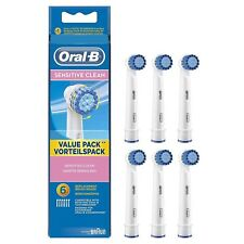 6x BRAUN Oral B ,SENSITIVE Precision CLEAN ,6x toothbrush heads EXPRESS DELIVERY